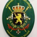 Emaille-wapenschild-België